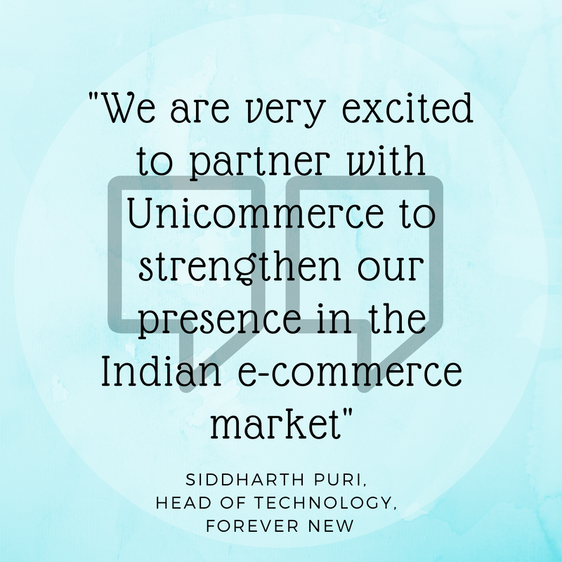 Unicommerce partners with forever new for e-commerce operations
