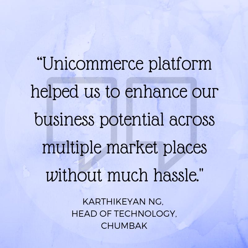 Chumbak-Kartikeyan say about Unicommerce