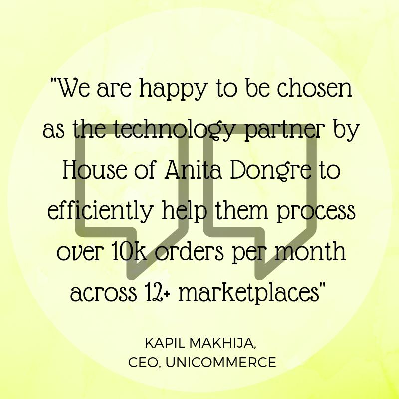 Kapil Makhija on Unicommerce House Of Anita Dongre partnership