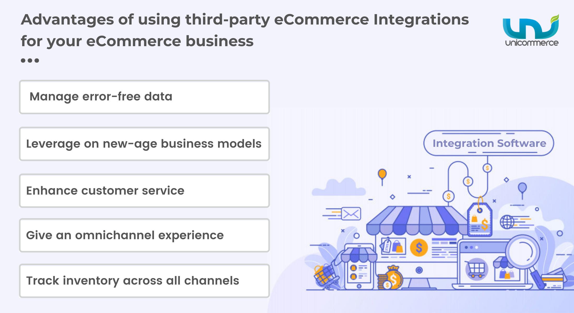 third party ecommerce integrations advantages